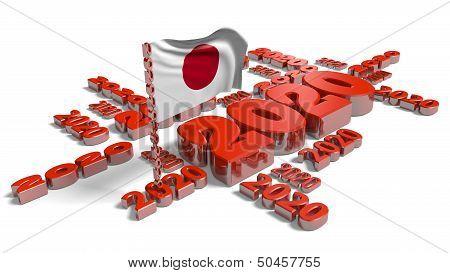2020 Japan Flag