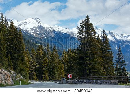 Alpine Road View (vorarlberg,austria)