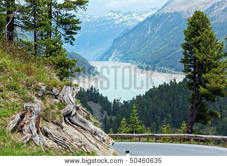 View To Gepatsch-stausee Lake  (austria)