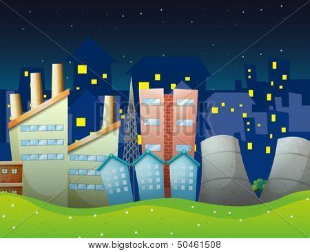 Illustration of the factories near the neighborhood