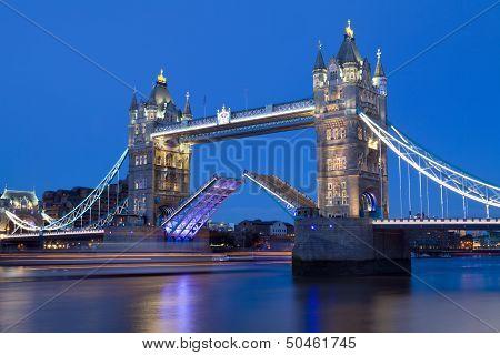 Tower Bridge At Dusk In London