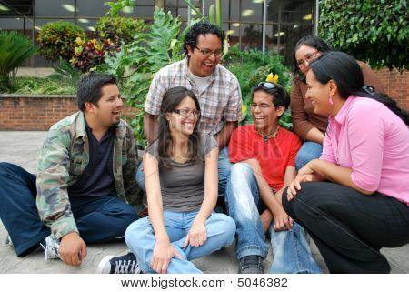 Attractive Group Of Hispanic Students