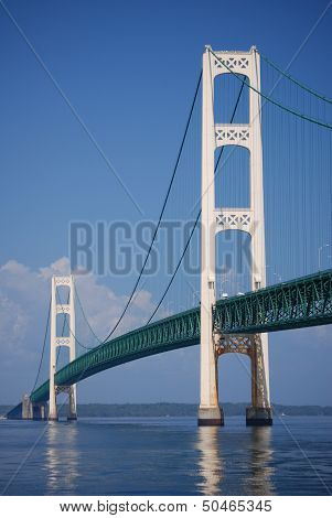 View of the Mighty Mackinac Bridge