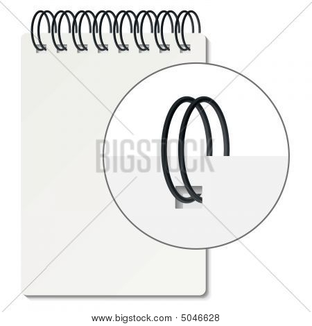 Spiral Binder. Vector.