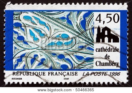 Postage Stamp France 1996 Chambery Cathedral, Savoie, Detail