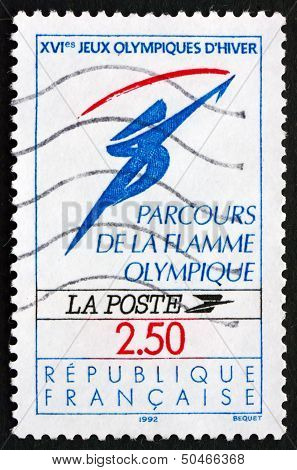 Postage Stamp France 1991 Flame