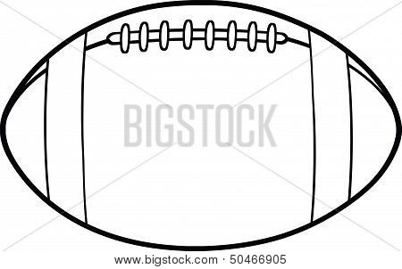 Black And White American Football Ball