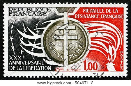 Postage Stamp France 1974 Order Of The French Resistance