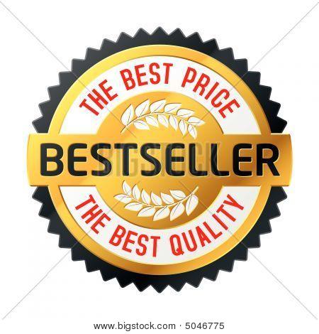 Bestseller Emblem. Vector