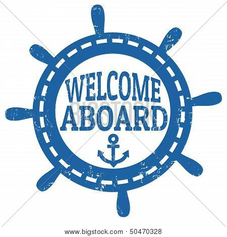 Welcome Aboard Stamp