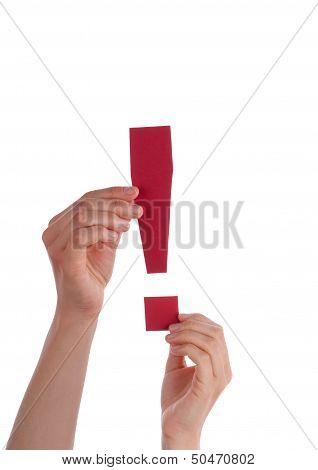 Red Interrogation Mark