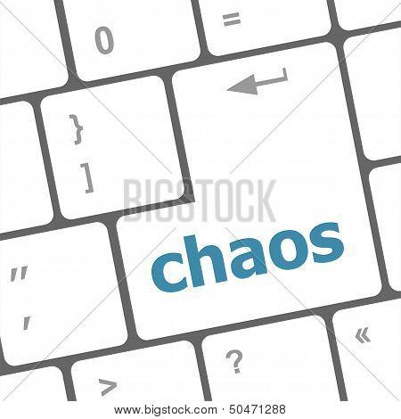 Chaos Keys On Computer Keyboard, Business Concept, Raster