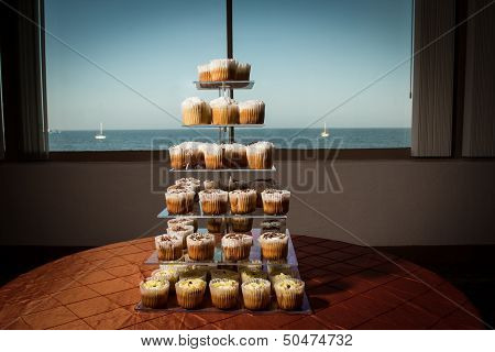 Image Of Cupcakes On A Tiered Stand
