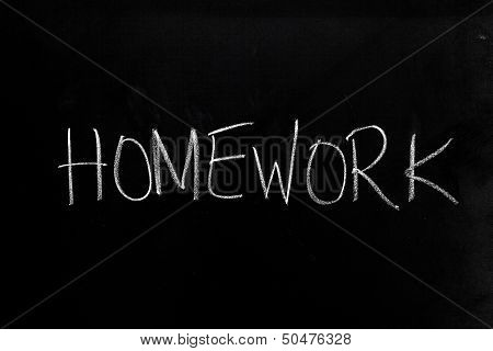 Homework On Blackboard