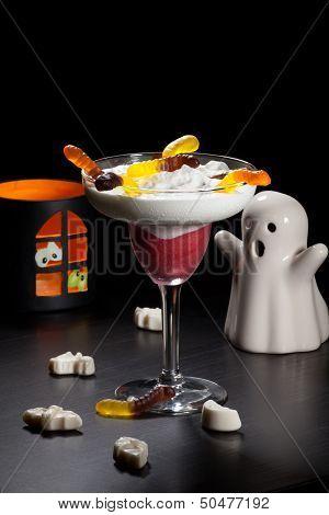 Halloween Drinks - Raspberry Vanila Daiquiri