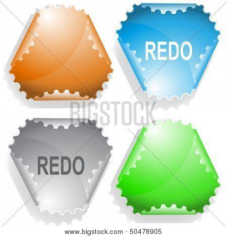 Redo. Raster sticker. Vector version is in my portfolio.