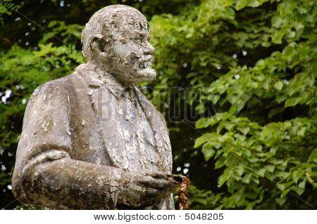 Lenin's Deserted, Shabby And Flaky Monument