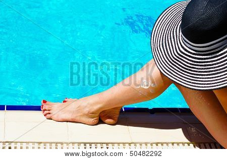 Woman At A Pool