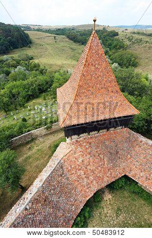 Viscri fortified church, in Transylvania, Romania, Europe