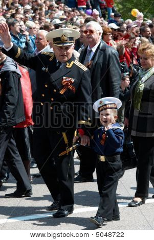 Veteran And His Grandson