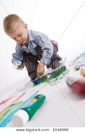 Maler am Arbeitsplatz