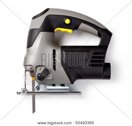 electric fretsaw isolated on a white background