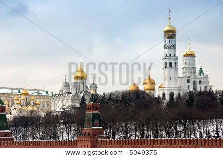 Gold Domes Of Moscow