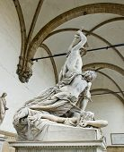 stock photo of pio  - The Rape of Polyxena sculpture by Pio Fedi in Loggia della Signoria - JPG