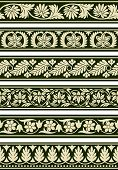 image of swirly  - A series of floral borders based on East Indian patterns - JPG