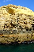 picture of vilamoura  - Caves cliffs yellow Albufeira in the Algarve - JPG