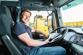 stock photo of lorries  - Logistics  - JPG
