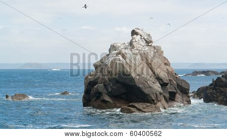 Rock Formation At Seven Islands
