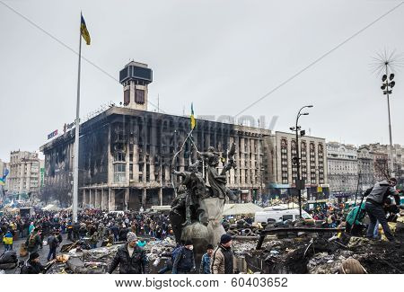Maidan After Cessation Of Clashes