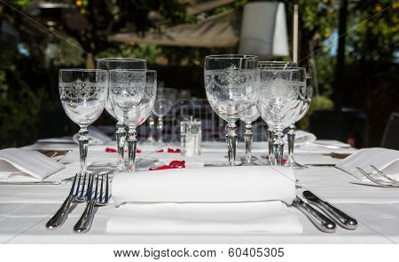 Elegance Table Set Up For Dinning Room