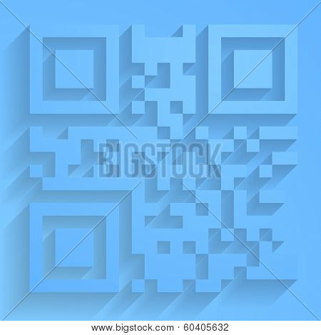 QR code abstract vector design
