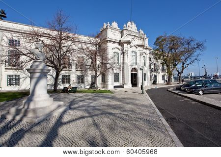 Lisbon, Portugal - February 13, 2013: Entrance of the Military Museum of Lisbon - Museu Militar de Lisboa.