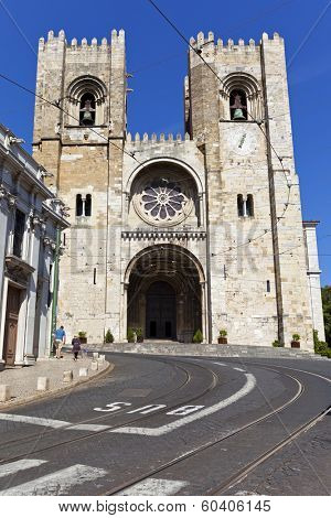 Lisbon, Portugal - May 26, 2013: The See Cathedral of Lisbon (Se de Lisboa), Portugal - The only remaining Romanesque church in the Portuguese capital.