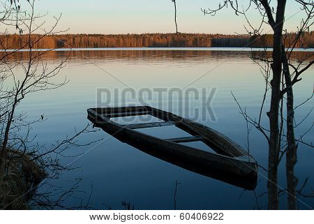 A Flooded Boat
