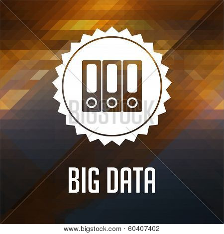 Big Data Concept on Triangle Background.