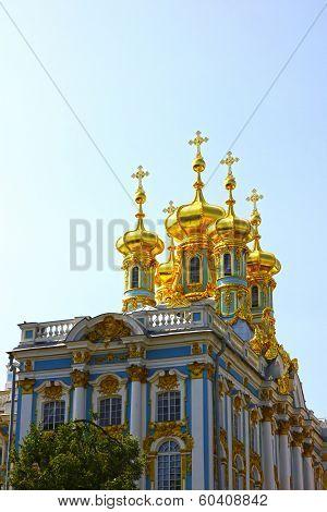 Orthodox Church Of Resurrection In The Catherine Palace In Pushkin (leningrad Region)