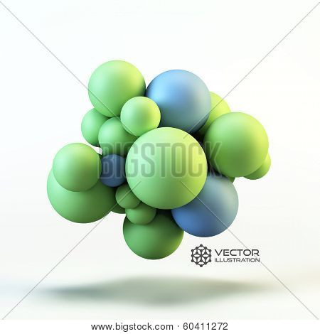3D concept illustration. Vector template.