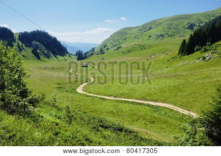 sinuous trail along Dolovi Lalevica in