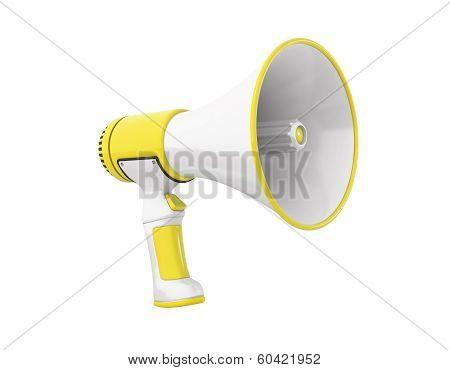 Megaphone Yellow Perspective