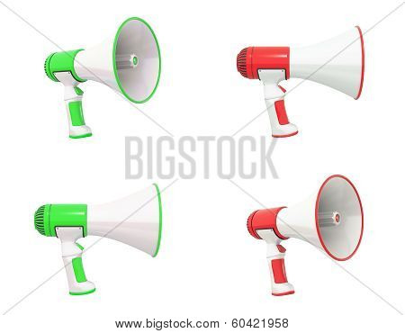 Megaphone Collection Green And Red