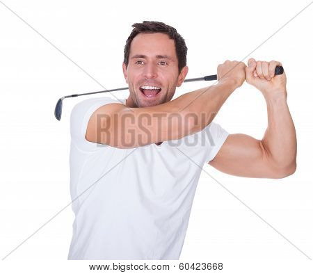 Golfer After Swing