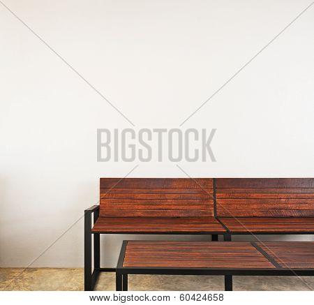 Garden Bench As Interior Furniture