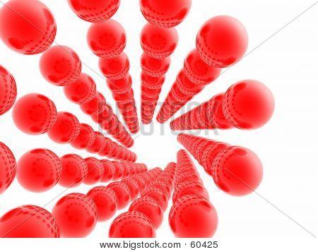 Esferas rojas