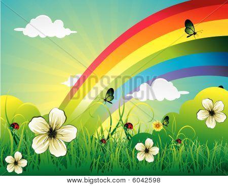 rainbow vector illustration