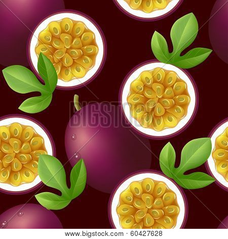 Passion fruit seamless pattern