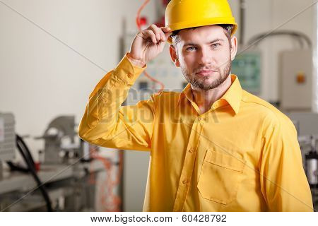 Engineer During Work